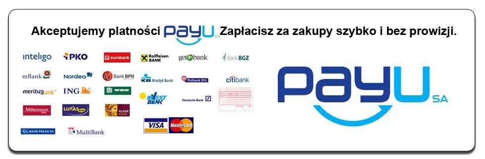 4145f5669e3dd Drugi sposób płatności to płatność poprzez payU. Mamy do wyboru szybkie  płatności dowolnego banku lub karty kredytowe VISA i MASTERCARD.